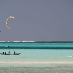 Catch Indian Ocean breeze (Kite Surfing)
