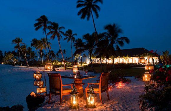 Romantic dinner on the beach at Royal Zanzibar