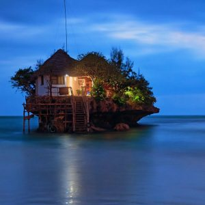 Candlelight Dinner at The Rock Restaurant Zanzibar