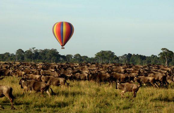 Katavi Balloon Flight at Sunrise